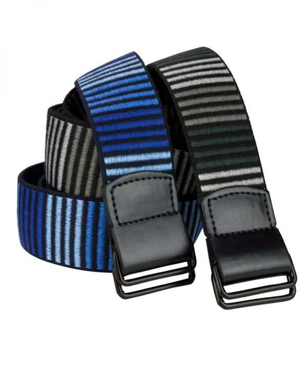 5D Woven Vegan Belt Blue Stripes