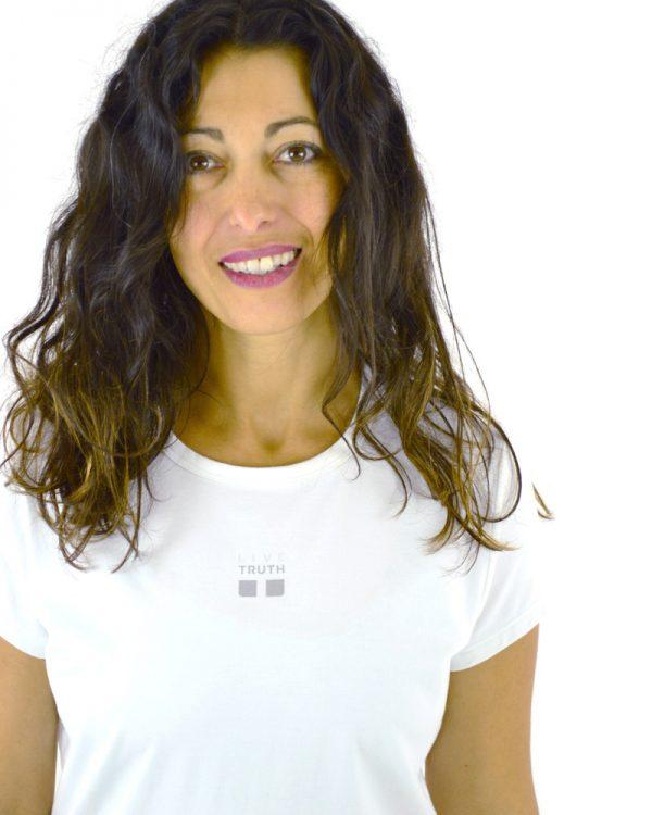 Atma White Ladies Tshirt Certified Organic