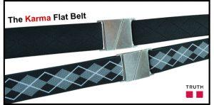 Karma Flat Belt from Truth Vegan Belts