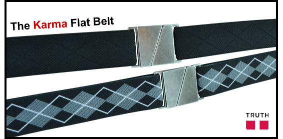 Karma Flat Belt from Truth Vegan Belts