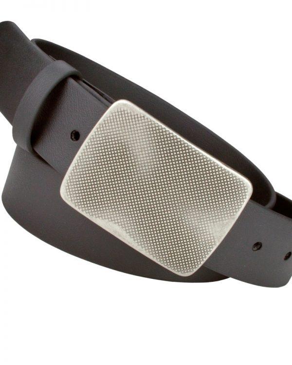 Ox-Cirrus Black Vegan Belts with detachable buckle