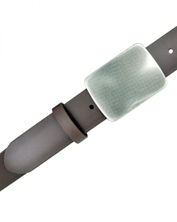 Ox-Cirrus Brown Vegan Belts with detachable buckle