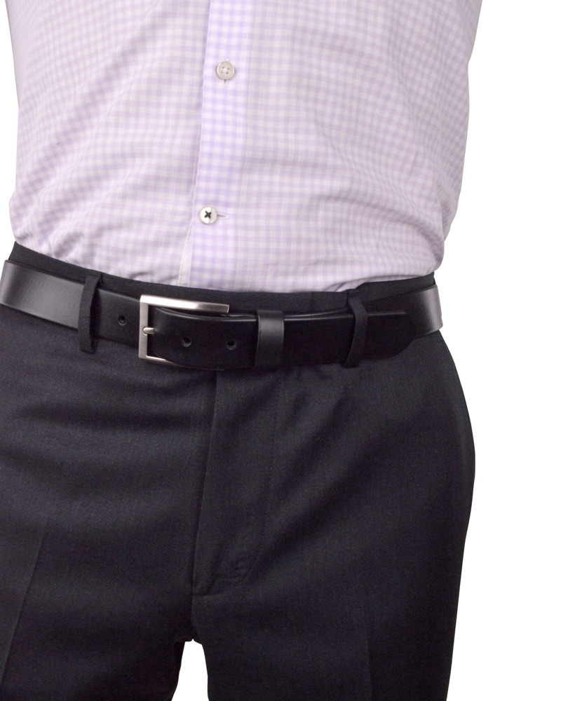 The Photon Mens Vegan Dress Belt | Nickel Free Buckle