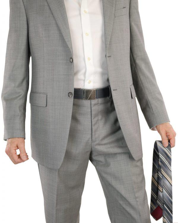 Seva Mens Grey Flat Stretch Belt