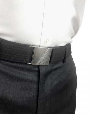 Seva Black Flat Stretch Belt