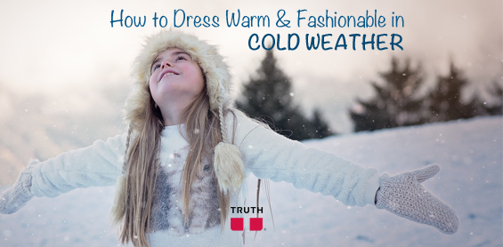 How to dress warm and fashionable in cold weather