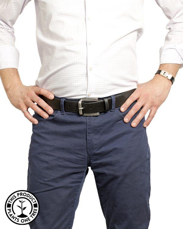 Orion Belt Black Matte Vegan Belt