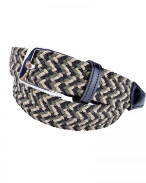 OTTO Tan Elastic Braided Vegan Belt