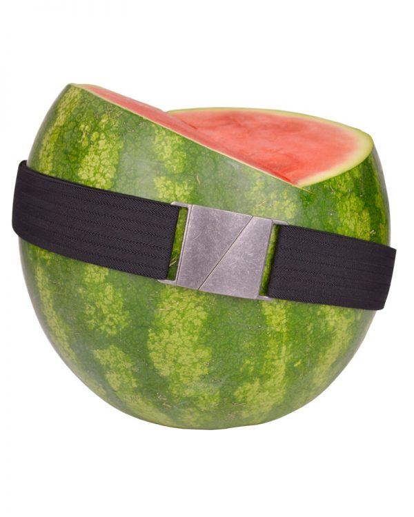 Seva Black Flat Stretch Belt
