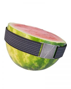 Seva Black Waves Flat Stretch Belt