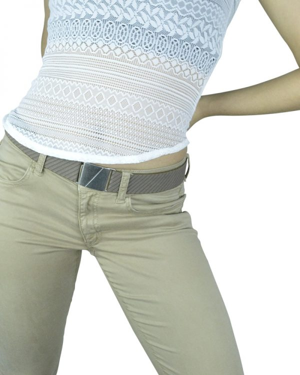 Seva Mocha Diagonal Flat Stretch Belt