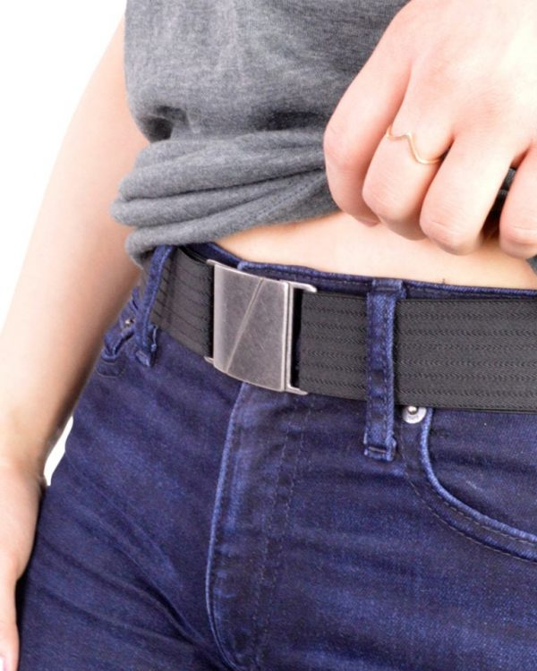 SEVA Flat Elastic Stretch Belt Black